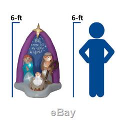 Christmas Airblown Inflatable 6' Nativity Scene with Mary, Joseph, and Baby Jesus