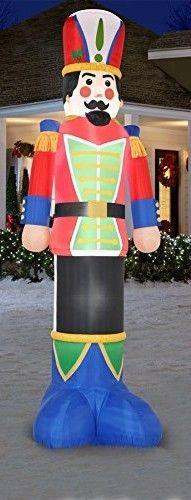 Christmas Airblown Inflatable Blow Up 16ft Soldier Nutcracker Gemmy Yard Decor