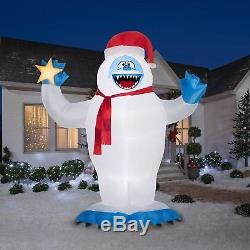 Christmas Bumble Abominable Snowman Rudolph Reindeer Airblown Inflatable 12 Ft