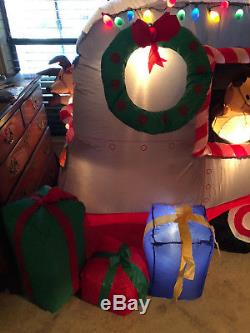 Christmas Camper RV Inflatable by Holiday Living 9.5 feet long