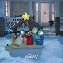 Christmas Decorations 6 ft Inflatable Light-Up Nativity Scene Outdoor Xmas Decor