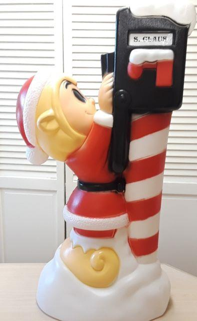 Christmas Elf At Santa's Mailbox Blow Mold -general Foam-app. 34 Ht. New Withtags