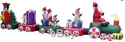 Christmas HUGE 20 FT SANTA CANDY TRAIN Airblown Inflatable Yard Decoration