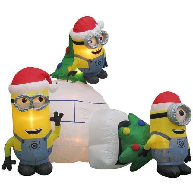 Christmas Igloo Santa 8 Ft Minions Despicable Me Disney Airblown Inflatable Yard