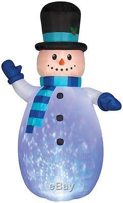 Christmas Inflatable 12' Projection Kaleidoscope Snowman By Gemmy