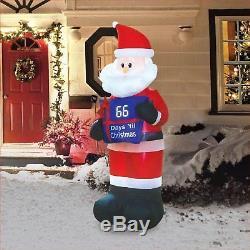 Christmas Inflatable 7' Countdown Santa Airblown Decoration