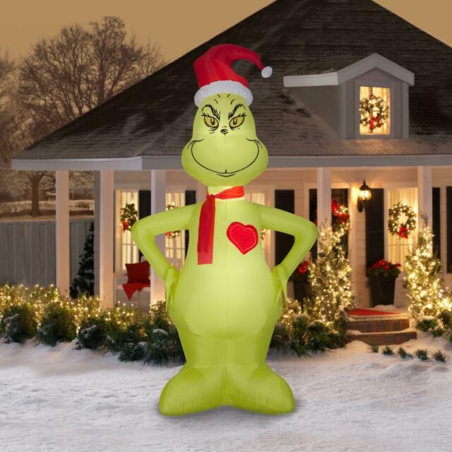 Christmas Inflatable Grinch 11 Ft Outdoor Lighted Holiday Decoration Xmas Decor