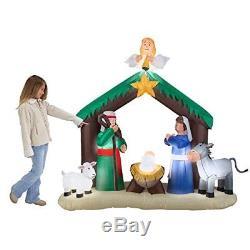 Christmas Inflatable Nativity Scene Decor Outdoor Garden Lawn Xmas Decoration