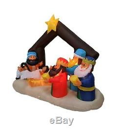 Christmas Inflatable Nativity Scene Lights Blowup Yard Indoor Outdoor Decoration