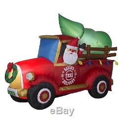 Christmas Inflatable Santa Tree Delivery Truck Airblown Yard Lawn Decoration NEW