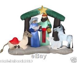 Christmas Lighted Nativity Air Blown Inflatable Mary Joseph Jesus Holiday Yard