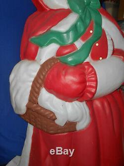 Christmas Mrs. Santa Claus Blow Mold-Santa's Best-VTG -40 Ht. With Cord