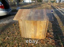 Christmas Nativity Scene Cedar Stable for Average Size Blow Mold Figures 12/20