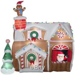 Christmas Santa Animated Gingerbread Man House 9 Ft Airblown Inflatable