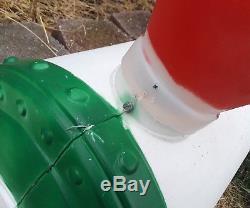 Christmas Santa Choo Choo Train Blow Mold -HTF-General Foam-VTG-With Cords