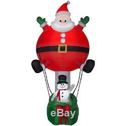 Christmas Santa Hot Air Balloon Snowman 12 Ft Airblown Inflatable Decoration