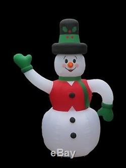 Christmas Santa Huge 20 Ft Tall Frosty Snowman Inflatable Airblown
