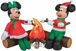Christmas Santa Mickey Mouse Campfire Inflatable Airblown Yard Decoration 5.5ft