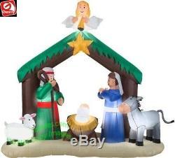 Christmas Santa Nativity Scene Angel Inflatable Airblown Yard Decoration 7 Ft