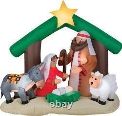 Christmas Santa Nativity Scene Holy Family Inflatable Airblown Yard Decor 6 Ft
