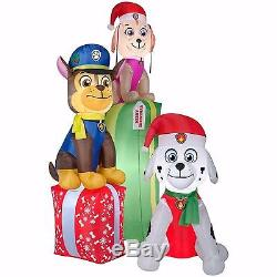 Christmas Santa Paw Patrol Dog Dogs Airblown Inflatable 8.8 Ft