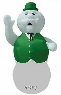 Christmas Santa Rudolph Reindeer 10 Feet Sam Snowman Inflatable Airblown Yard