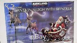Christmas Santa Sleigh& 2- Reindeers Large Commercial Sized Outdoor