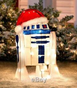 Christmas Santa Star Wars R2d2 Saber Lighted Yard Decor Tinsel