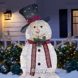 Christmas Snowman Hat 5 ft LED Light Holiday Indoor Outdoor Yard Decorations NEW