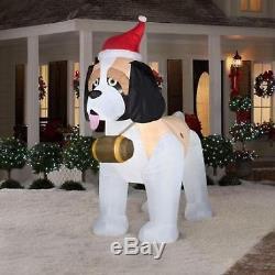 Christmas St Bernard Dog Santa 9 Ft Airblown Inflatable Yard Decoration