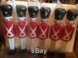 Christmas Toy Soldier Light Up Blow Mold Decoration General Foam Lot Of 6