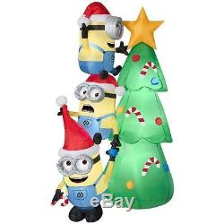 Christmas Tree Santa 6 Ft Minions Despicable Me Disney Airblown Inflatable Yard
