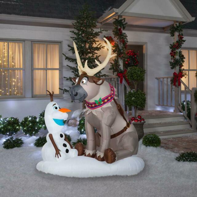 Christmas Yard Inflatable Disney Frozen Olaf Air Inflate Blow Up Lawn Xmas Float