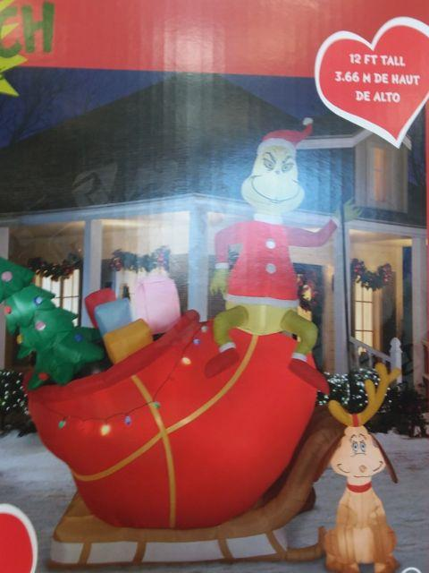 Christmas Inflatable Grinch Dr Seuss Christmas Inflatable Gemmy