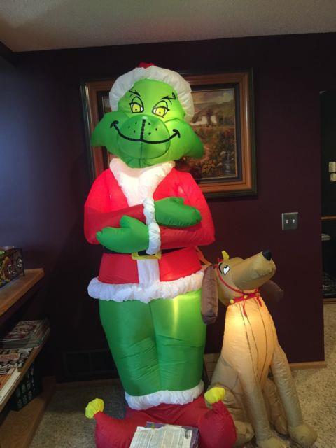 Christmas Inflatable Grinch Rare 2004