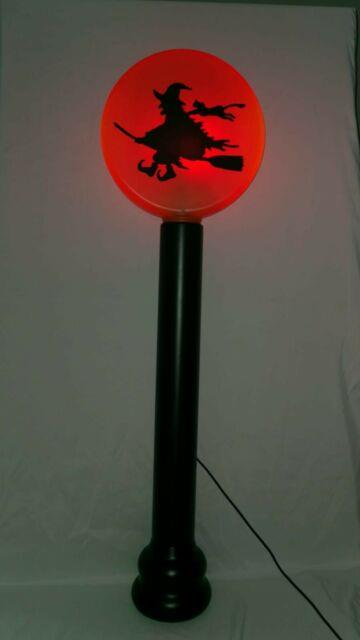 Coming Soon! This Fall Of 2021 Halloween Blow Mold Light Lamp Post Witch/cat