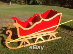 Custom Santa Sleigh And Reindeer-superb Work