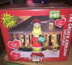 DR SEUSS THE GRINCH GIANT 11ft TALL AIRBLOWN CHRISTMAS INFLATABLE NIB