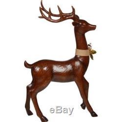 Decorative Deer 2 Pack Indoor and Outdoor Polyresin Wood-Look-Finish Reindeer