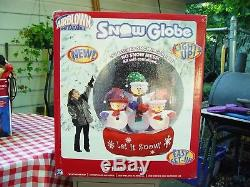 Discontinued Gemmy Airblown Inflatable Snow Globe Snowglobe 6 Foot New Sealed