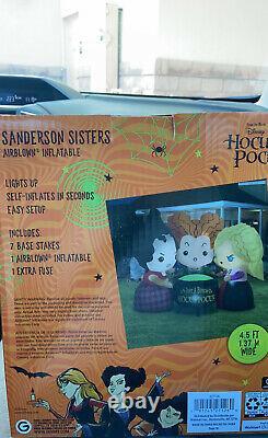Disney HOCUS POCUS SANDERSON SISTERS Halloween Airblown Inflatable Put A Spell