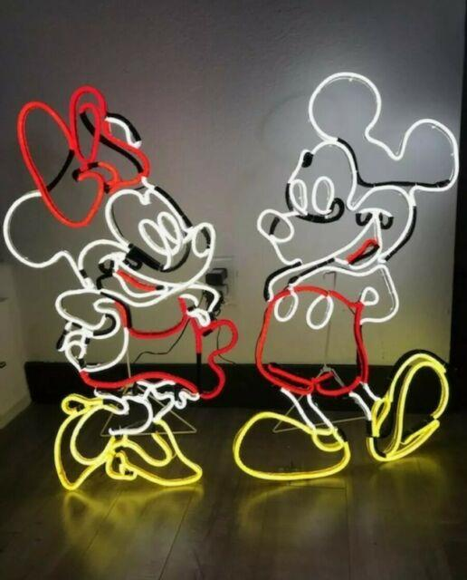 Disney Magic Holiday Lighted Minnie & Mickey Mouse Neon Sign Led 2.6ft 0785237