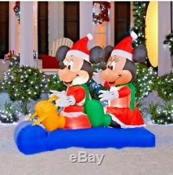 Disney Mickey Minnie Mouse Sled Scene 5' ft Christmas Inflatable Lawn Decor