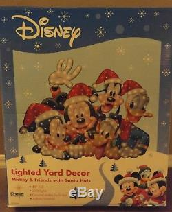 Disney Mickey Pluto Goofy Donald Christmas Roman Yard Display Lighted Outdoor