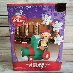 Disney Tigger in a Train Locomotive Christmas Airblown Inflatable Rare Gemmy
