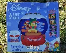 Disney Winnie Pooh Eeyore Tigger Rotating Globe Airblown Inflatable Christmas