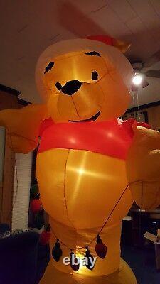 Disney Winnie The Pooh Christmas Inflatable Airblown Gemmy 8' Disney Catalog