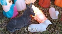 EMPIRE Christmas blow mold nativity 11 pc. MINIATURE SET
