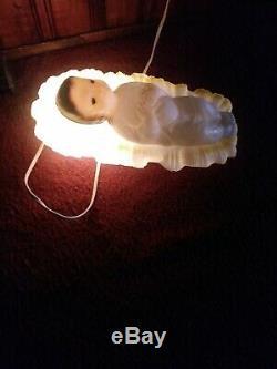 EMPIRE TableTop Miniature Blow Mold Nativity 10 piece set in original box rare