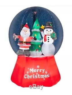 EUC Display Giant 12' Inflatable Christmas Snow Globe Airblown Snowglobe Huge